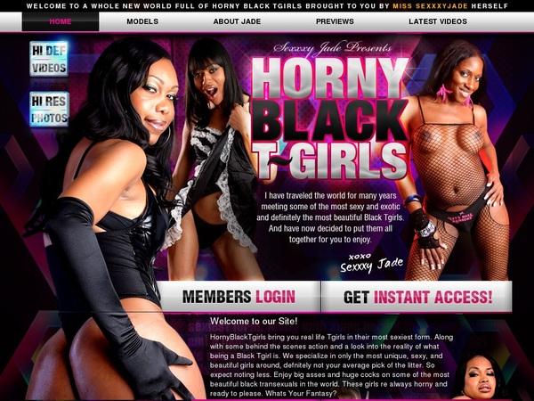 Horny Black TGirls Yearly Membership