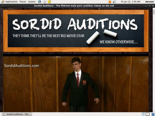 Sordid Auditions With EUDebit