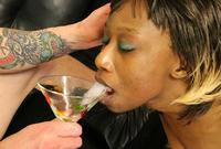 Ebony Cum Dumps Blowjob