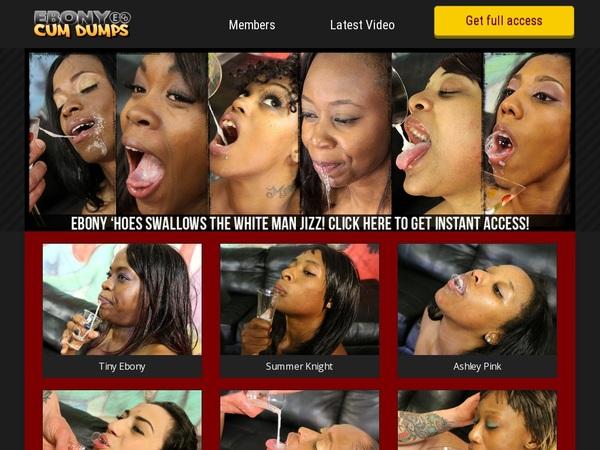 Ebony Cum Dumps Get An Account