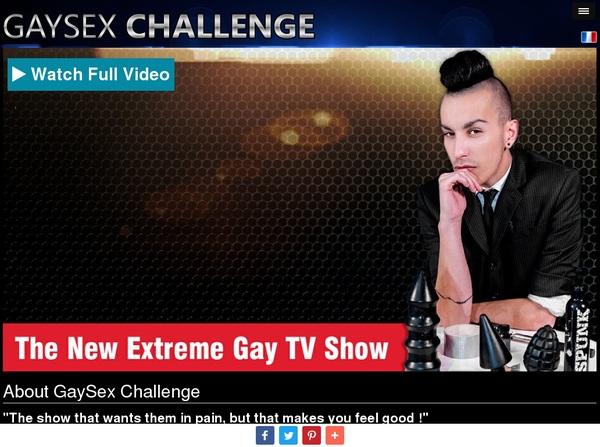 Gay Sex Challenge Registration Form
