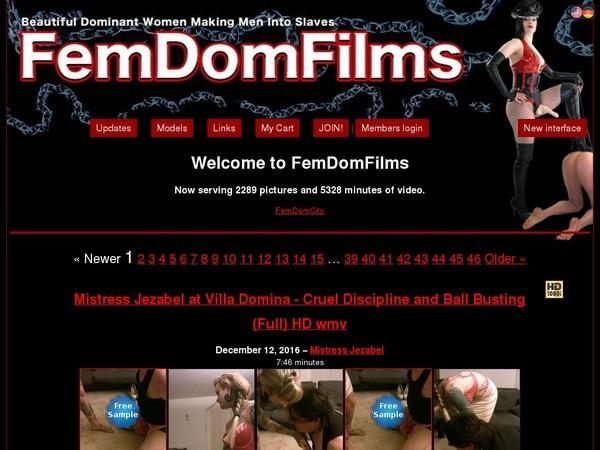 FemDom Films Working Pass